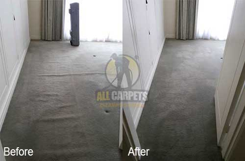 before and after repairing carpet stretching