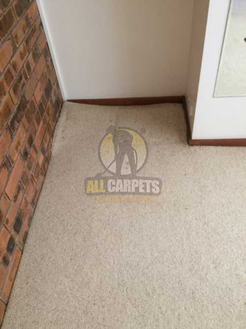 Campbelltown carpet before removing furniture indentations and fitting to floorboard