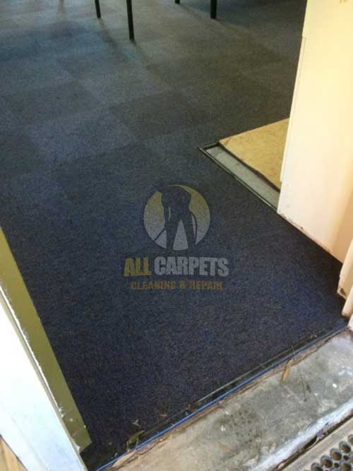 Brisbane damaged and fuzzed carpet edge needed to be repaired