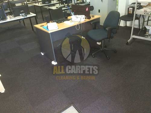 Mandurah traning room before cleaing carpet