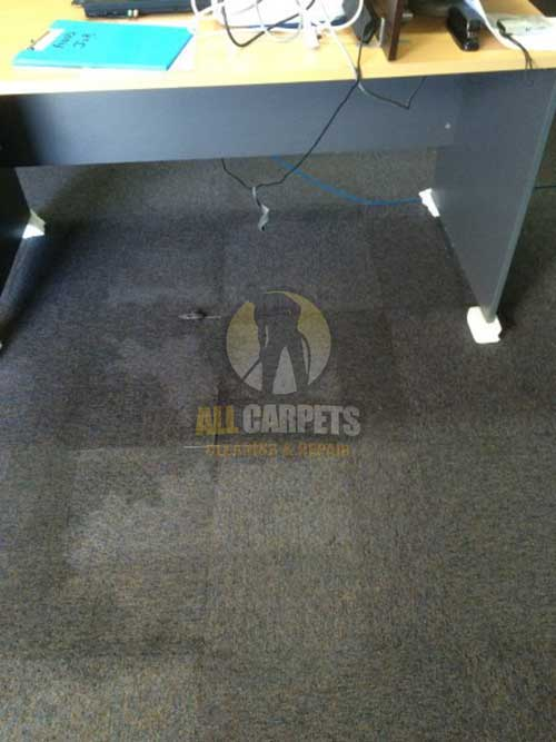 water damage carpet needed to be repaired