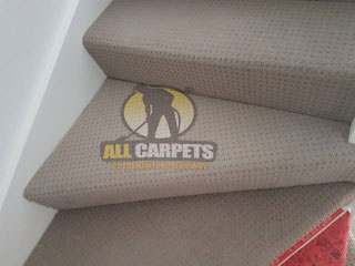 Before and after repair, install and clean Darwin carpet