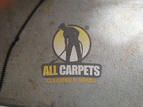white carpet dirty before cleaned by our experts in Toowoomba